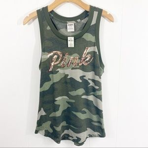 Pink By Victoria's Secret Camouflaged Tank Top